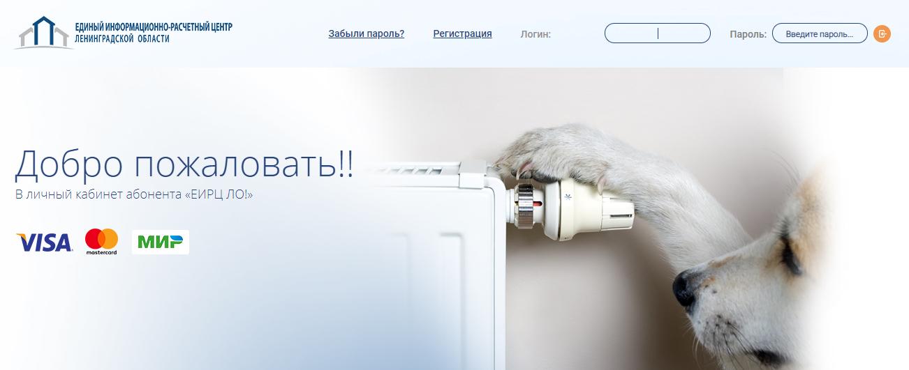 ЕРИЦ Ленинградской области - личный кабинет