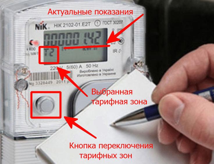 Счетчик электроэнергии (многотарифный)